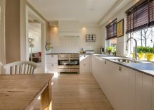 Opciones de material de cocinas modernas y muebles